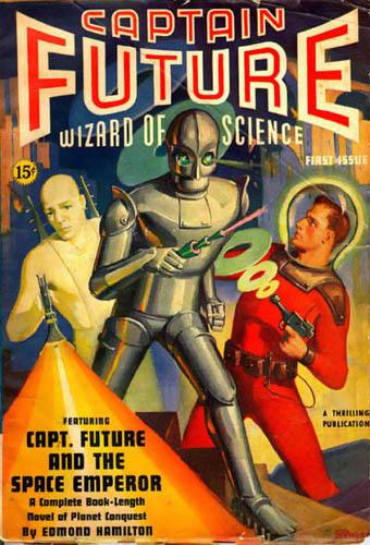 Captain Future pulp magazine cover