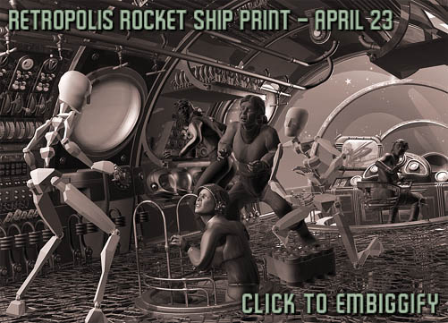 Retropolis Rocket Ship preview, April 23