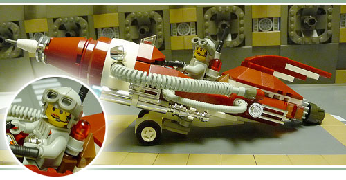 retro rocket in lego vitro