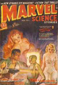 Marvel Science Stories pulp magazine cover