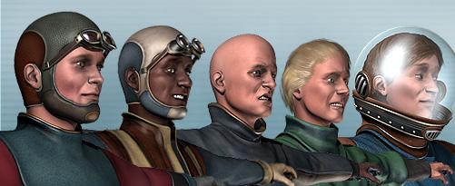 More men of the Retro Future