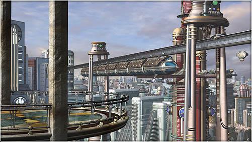 Retropolis - city scene in progress