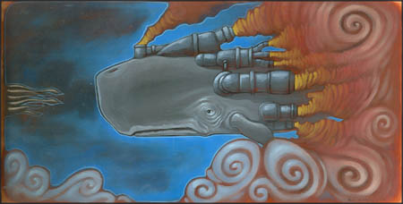 Roland Tamayo's surreal whales and squids