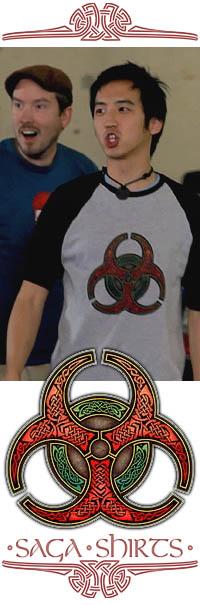Celtic Biohazard T-Shirt from The Guild, Season 5