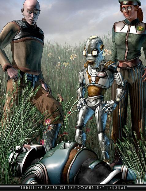 Retro Futurism Robot I...