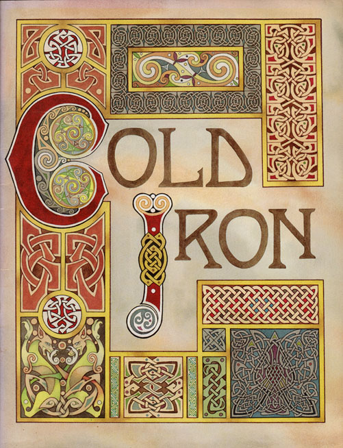 Front Cover for the Leslie Fish/Rudyard Kipling 'Cold Iron' songbook
