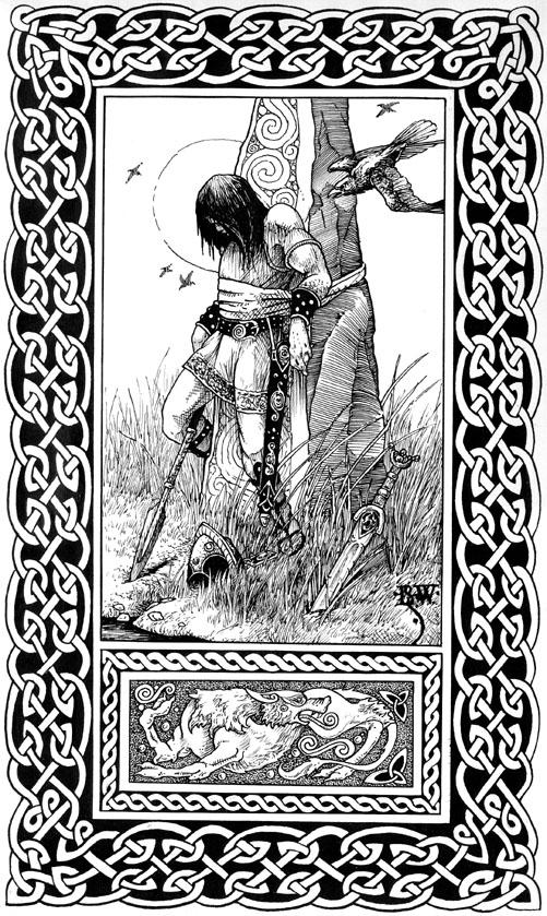 The Death of Cuchulain (from Runestaff #18), 1983