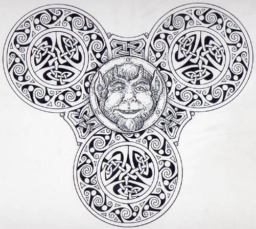 Illustration for Rudyard Kipling's 'Puck's Song'