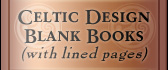 Celtic Design Blank Books (lined)