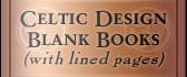 Celtic Design Blank Books (lined)