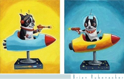 Rocket Terrier prints
