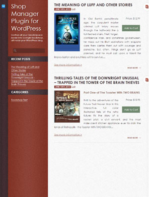 CreateSpace Shop Manager plugin for WordPress- theme preview