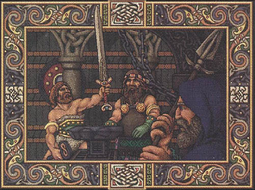 """The Forge"", a 16 color image from 1988"