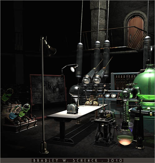 Mad Scientist Lab from Thrilling Tales of the Downright Unusual