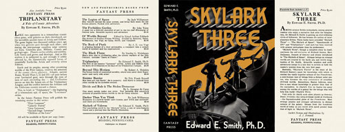 Reproduction book jacket for Skylark Three