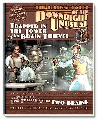 The Art on the Book of the Web Site of Thrilling Tales of the Downright Unusual