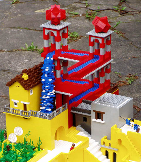 m. c. escher in legos