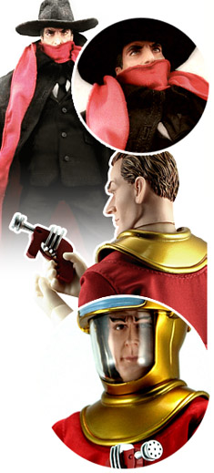 Go Hero's The Shadow and Dan Dare action figures