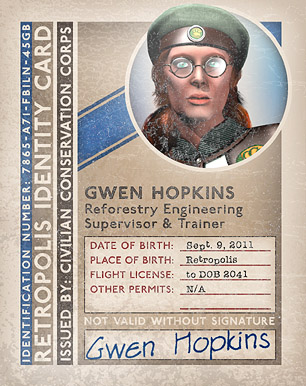 ID Card from the Future That Never Was