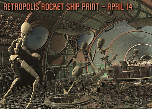 Retropolis Rocket Ship work in progress: April 14