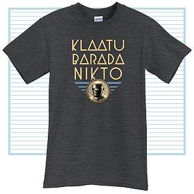 klaatu barada nikto tee shirt