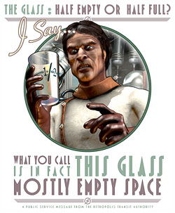 The Glass:Mostly Empty Space