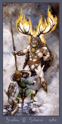 samhain - celtic mythic painting, 1982