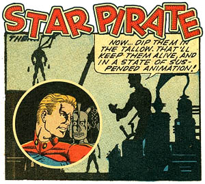 Star Pirate - vintage space pirate comics