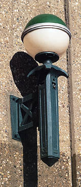 Modern period-style lamp from Roosevelt Island