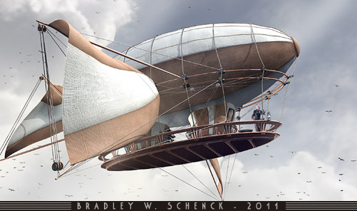 An Airship Sailing in the Future That Never Was