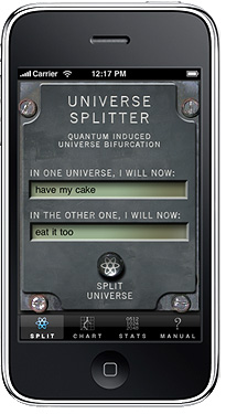 Universe Splitter App for your iPhone
