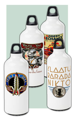 Aluminum Water Bottles from the Vintage Future