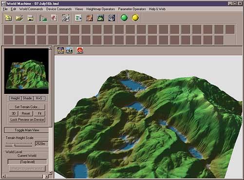 World Machien 3D View, Built