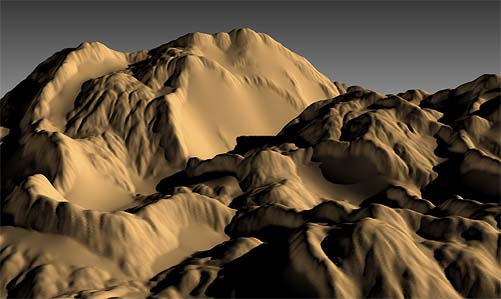 Displacement mapped terrain from Height Map