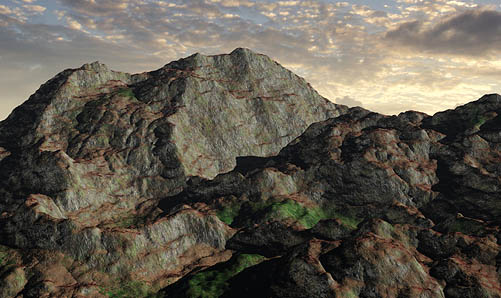 Displacement Mapped terrain from World Machine and 3DS Max