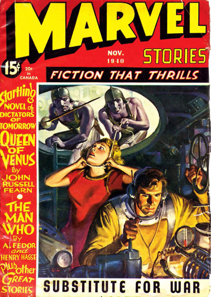 1941 Marvel Stories cover by J. W. Scott