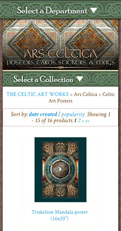 Narrow display of The celtic Art Works