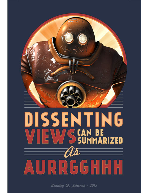 Dissenting Views Can be Summarized as AURRGGHHH