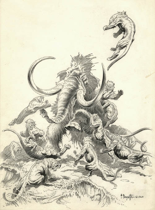 Frank Frazetta drawing from auction catalog