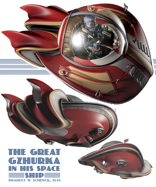 The Great Gzhurka in his space ship