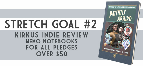 Stretch goal #2 for Patently Absurd, at Kickstarter