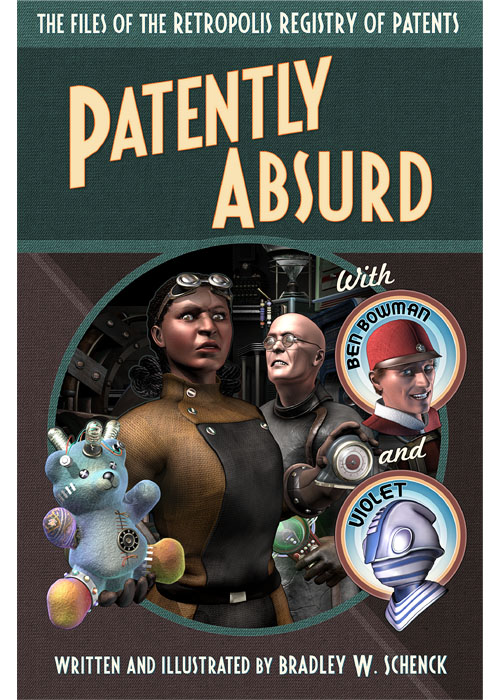Cover design for ''Patently Absurd'