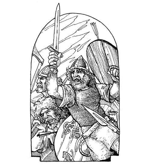 Runestaff battle cover - Bradley W. Schenck