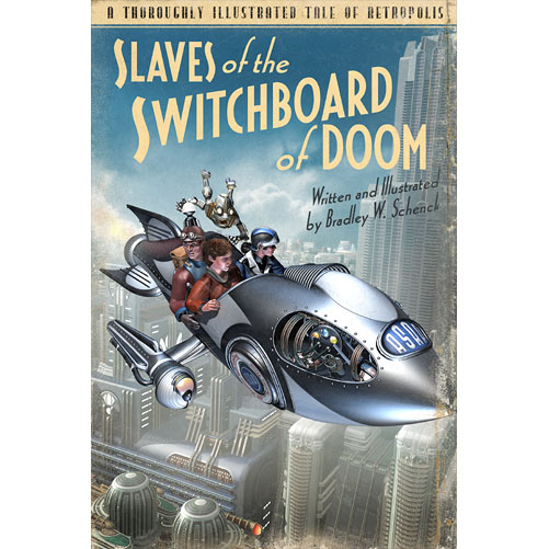 Original cover design for Slaves of the Switchboard of Doom