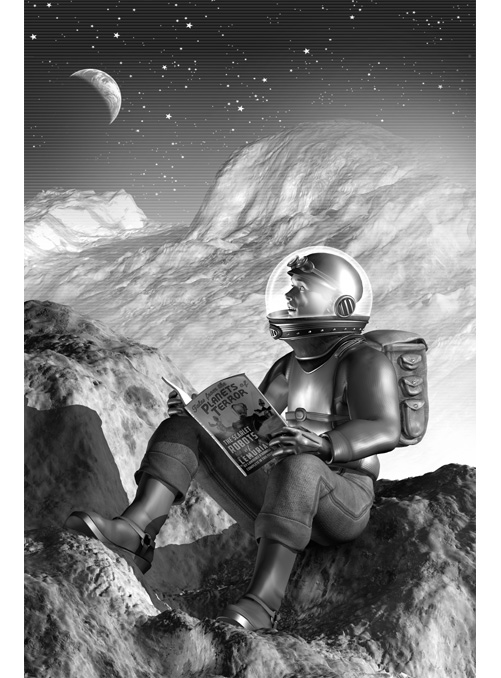 Dash Kent on the Moon, from 'Slaves of the Switchboard of Doom'