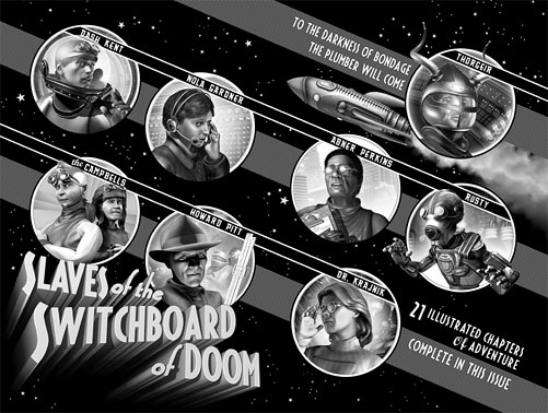 Slaves of the Switchboard of Doom - Endpapers (front)