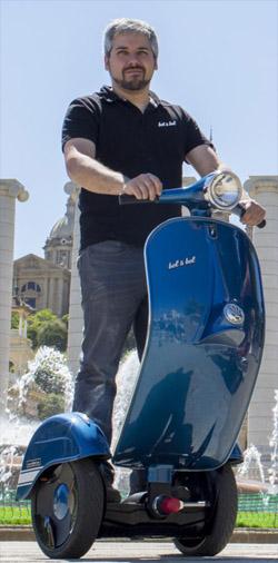Bel & Bel's Vespa self-balancing scooters