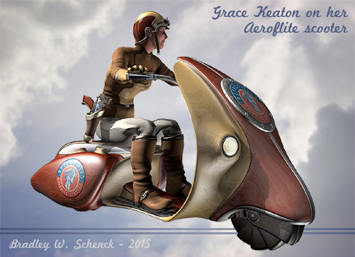 Grace Keaton's Flying Scooter