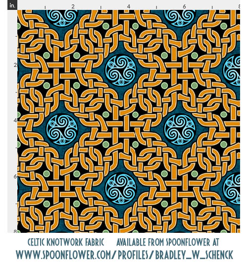 Celtic knotwork fabric