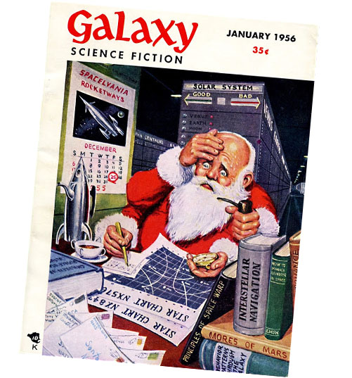 Ed Emshwiller Christmas cover for Galaxy Science Fiction - Jan. 1956